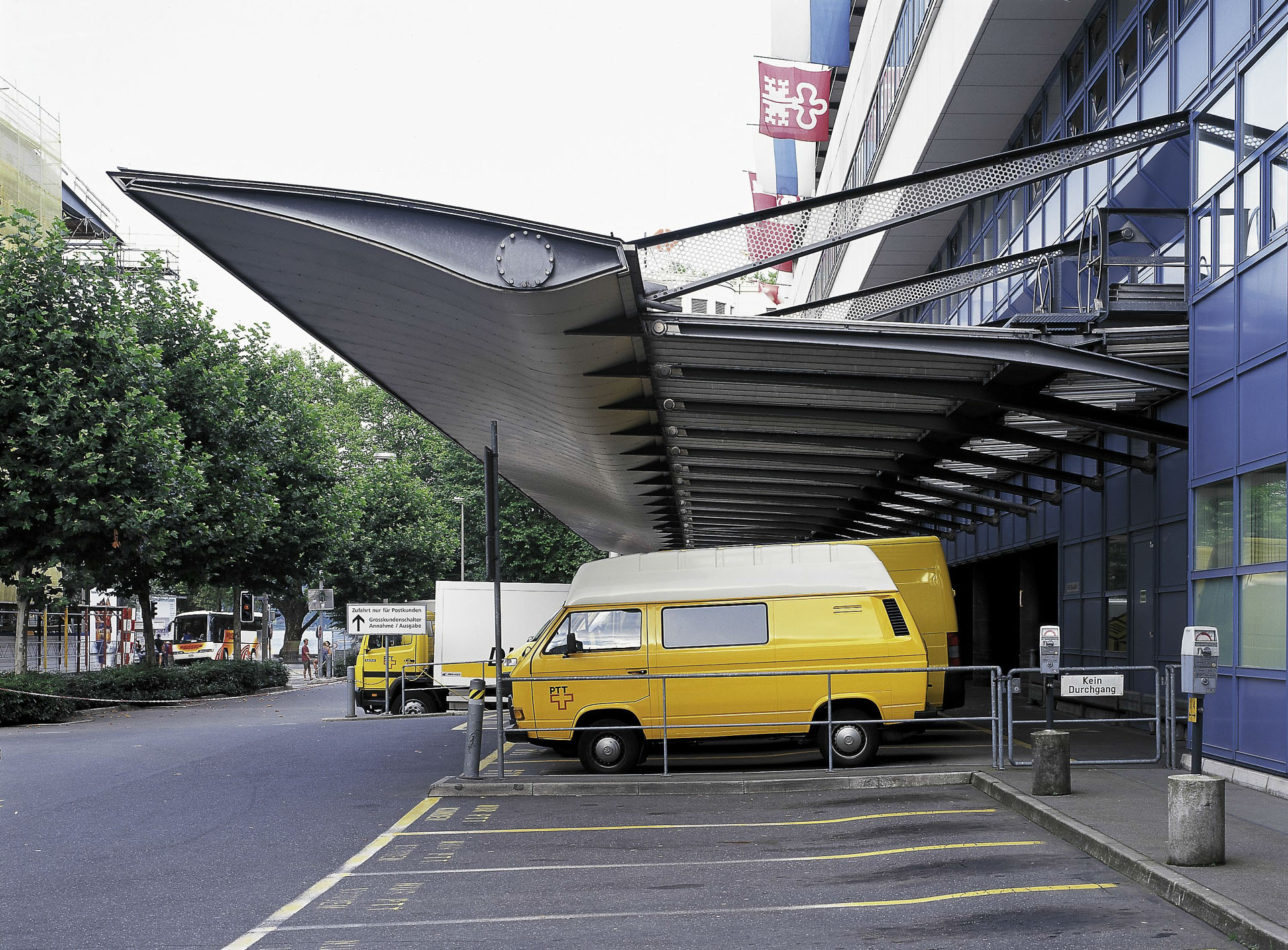 PTT Postal Centre Canopy / Luzern (Gallery) - Santiago Calatrava u2013 Architects u0026 Engineers & PTT Postal Centre Canopy / Luzern (Gallery) - Santiago Calatrava ...