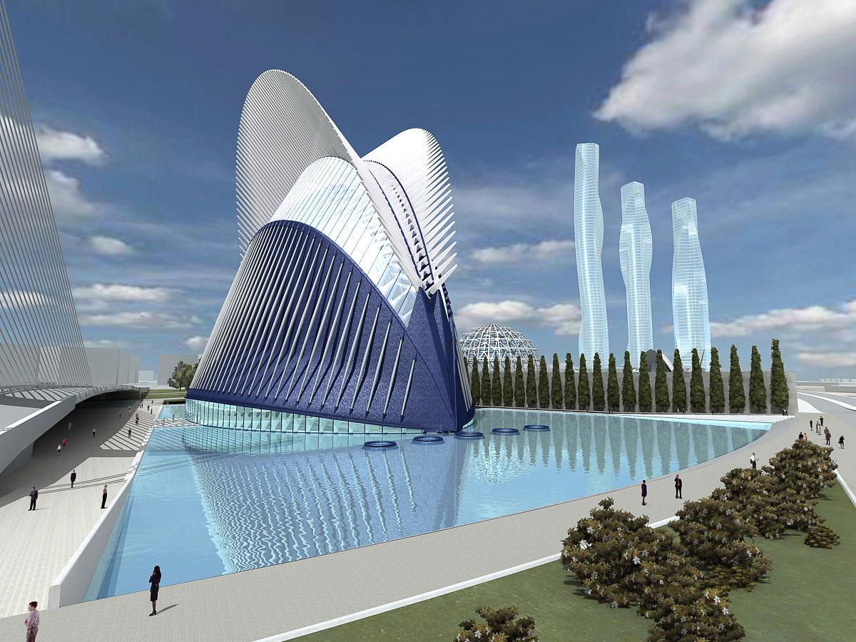 Agora Ciudad De Las Artes Y Las Ciencias Valencia Gallery Santiago Calatrava Architects Engineers